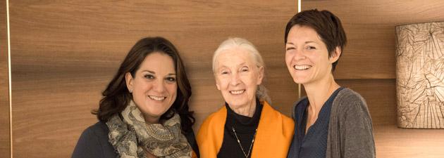 Doris Schreyvogel, Jane Goodall und Diana Leizinger