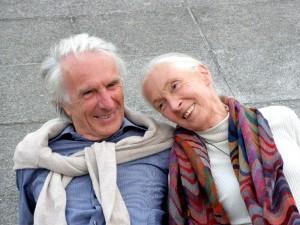 Walter Inmann mit Jane Goodall