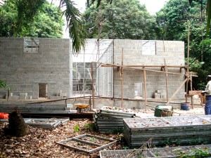 Fertigstellung der Gebäude