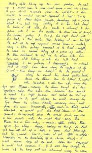 Erste Notizen von Jane Goodall
