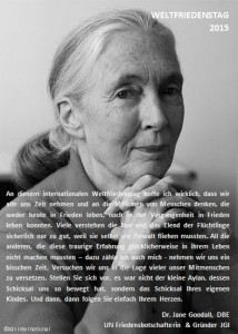 Statement Jane Goodall
