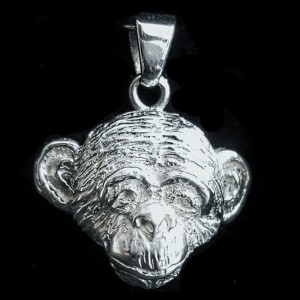 Schimpansenkopf-Anhänger