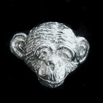 Schimpansenkopf Anstecker